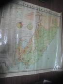 俄文原版地图【八十年代彩色,大幅压膜】6大张合售