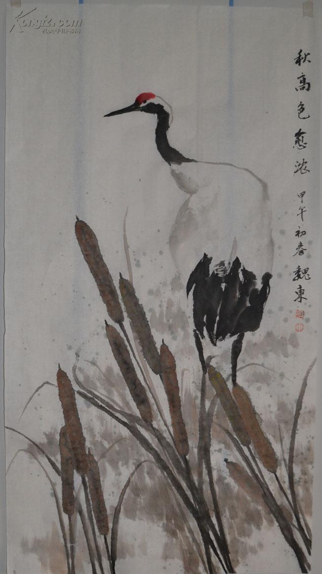 花鸟画  小幅写意 仙鹤 手绘原创保真包邮