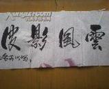 廉振华为自传《影子》封面撰写的题名、题图等,夜观春秋手稿