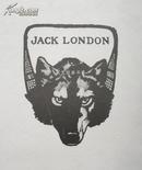 美国早期线刻版藏书票小说家杰克伦敦白牙名作