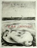 """""""著名奥地利艺术家""""芬格斯坦(M Fingesten)蚀刻情色藏书票—《海边裸女》"""