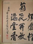 武汉老书法家傅金龙书法精品一件 原装原裱(花绫裱) 纸心114厘米 58厘米 包快递