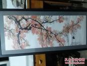徐悲鸿花鸟精品一幅,98x38cm   木板水印,包邮需要的直接下单、