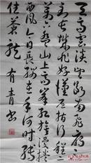【名家手绘真迹书法作品 宣纸】5平尺 99cmx52cm     库1001