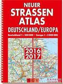 德国原版 德国地图集 欧洲地图集 Neuer Straßenatlas Deutschland/Europa 2016/2017