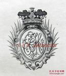 """""""英皇御用铜版雕刻大师""""巴雷特铜版藏书票——the marchioness of headfort 1900"""