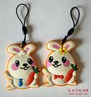 上海公交卡兔年生肖挂件卡全新两枚一套(没有盒子)
