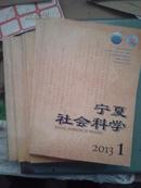 宁夏社会科学2013年全年1-6
