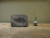 罕见 双面渔化石