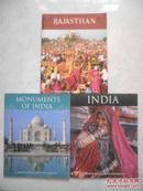 明信片: INDIA + RAJASTHAN + MONUMENTS OF INDIA(共3册,每册12枚)
