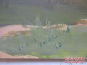 1962年 辽宁本溪太子河 水粉画一幅 带款不识 尺寸25*34厘米