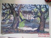 当代画家 徐放 1978年绘水粉画一幅 24*38厘米