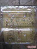 稀见清代婚俗票证两张《花轿行单》尺寸30.5*25.5cm 《花轿灯色合同》尺寸40*26cm 各一张