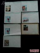 87年7月  第一版    红楼梦电视剧 剧照 明信片  带  原装 老信封  一套7张!!