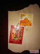 漳州木版年画.狮头衔剑2009-2(4-1)邮资1.2元   长城(邮资0.8元)
