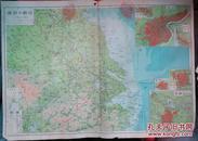 民国地图1张:《江苏及安徽》【从《申报》1939年出版的《中国分省地图》中拆下来的,有如图污迹】