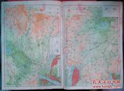民国地图1张:《湖南 湖北》【从《申报》1939年出版的《中国分省地图》中拆下来的,有如图污迹】