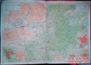民国地图1张:《河南》【从《申报》1939年出版的《中国分省地图》中拆下来的,有如图污迹】
