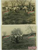 民国侵华日军举办体育运动会老照片两张,尺寸均为15X11.3厘米