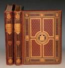 1880年 Pictures & Royal Portraits《英国皇家钢板画集》极珍贵原装初版本 金碧辉煌2巨册全 69张绝美钢版画 罕见善本