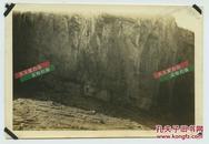民国长江扬子江重庆段瞿塘峡(又名夔峡)陡峭的岩壁老照片,现在都已经淹没不复存在