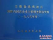安徽省池州地区预算内国营企业主要财务指标资料(1989年度)塑胶封面