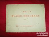 1972年浙江省田径、游泳运动最高纪录