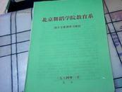 节目单【1984年北京舞蹈学院教育系部分专业课实习演出】