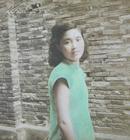 民国老照片:手工上色——民国旗袍美女。