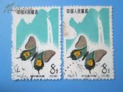 特56蝴蝶20-9【漏色变体票】孤品 老纪特邮票