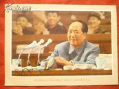 伟大领袖毛主席在中国共产党第九次全国代表大会上宣传画