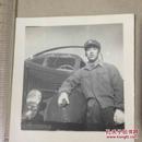原版老照片`五角星军帽军人`军车系列1`6*6
