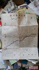 【伪满洲国史料,沈阳行政区划史料】一幅民国老地图:康德拾壹年四月制 奉天市管内图 1944年4月 HQ