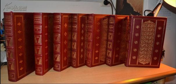 《莎士比亞戲劇與十四行詩》(附帶7本小冊子),富蘭克林25周年真皮精裝限量珍藏版,三面刷金 ,英文原版,全7卷合售。孤品 現貨包郵