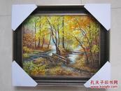 俄罗斯手绘风景油画60*50厘米(手绘油画原作)