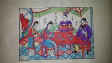 杨家埠木版年画版画大全之111*三国故事貂蝉劝酒