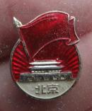 文革徽章:北京背毛主席万岁南京
