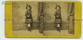 1880年代左右欧洲少数民族穿传统服装服饰人像蛋白立体照片
