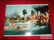 湘湖--冬泳表演【魅力湘湖·摄影大赛作品原照】附·作者(张上和)签名