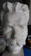 最低价格的石膏雕塑——高尔基头像——尺寸:23*28*53