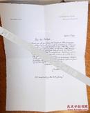 埃德蒙·杜拉克信札连信封著名插画家杜拉克1919年私人定制笺纸手工纸保真