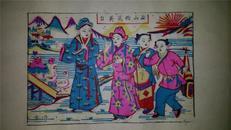 杨家埠木版年画版画大全之124*梁祝故事梁山伯送英台