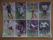 足球名星(背面有明星介绍.姓名.籍贯.身高.等)3张24位名星