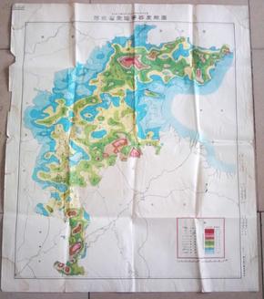 河北省聚落等密度线图 75×88厘米     【民国33年12月印制】