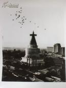 新华社照片,1985年:北京妙应寺白塔,即白塔寺白塔,15.5*20.5