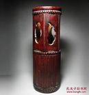 清代老竹雕帽筒老竹刻摆件老竹器收藏老竹雕笔筒收藏古玩古董收藏