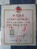 50年代毕业证书---湖北省三江口高级中学