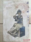 【铁牍精舍】【精品老照片】民国原照《著名京剧表演艺术家杜近芳民国签赠照一张》