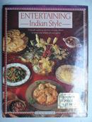 英文原版西餐食谱:ENTERTAINING INDIAN STYLE (有趣的印度风格)