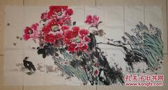 杨仁春 常德桃源著名画家 国画作品(70厘米X136厘米)